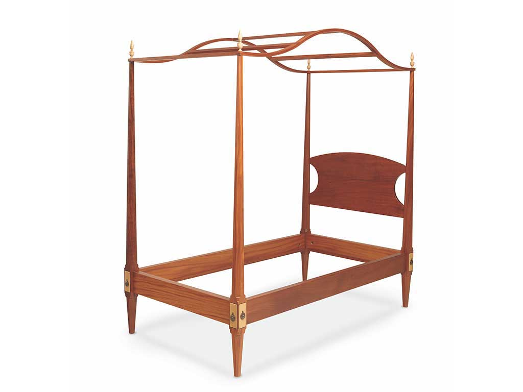 Mahogany pencil post canopy bed
