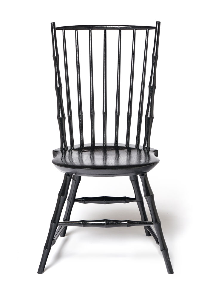 Rod-back Windsor side chair
