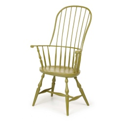 Green sack back Windsor Chair