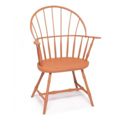 pumpkin painted sack back Windsor Chair