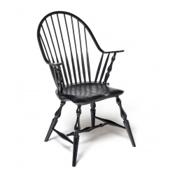 Black Continuous-arm Windsor chair