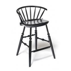 Black painted Farmhouse Style Windsor Stool