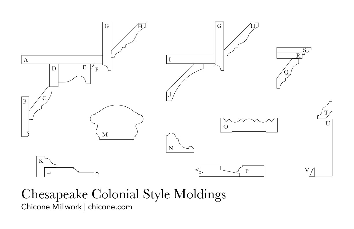 Chesapeake colonial molding