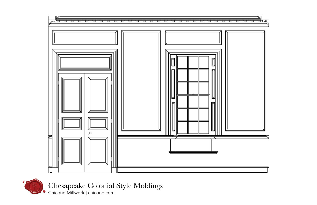 Chesapeake colonial window and doors
