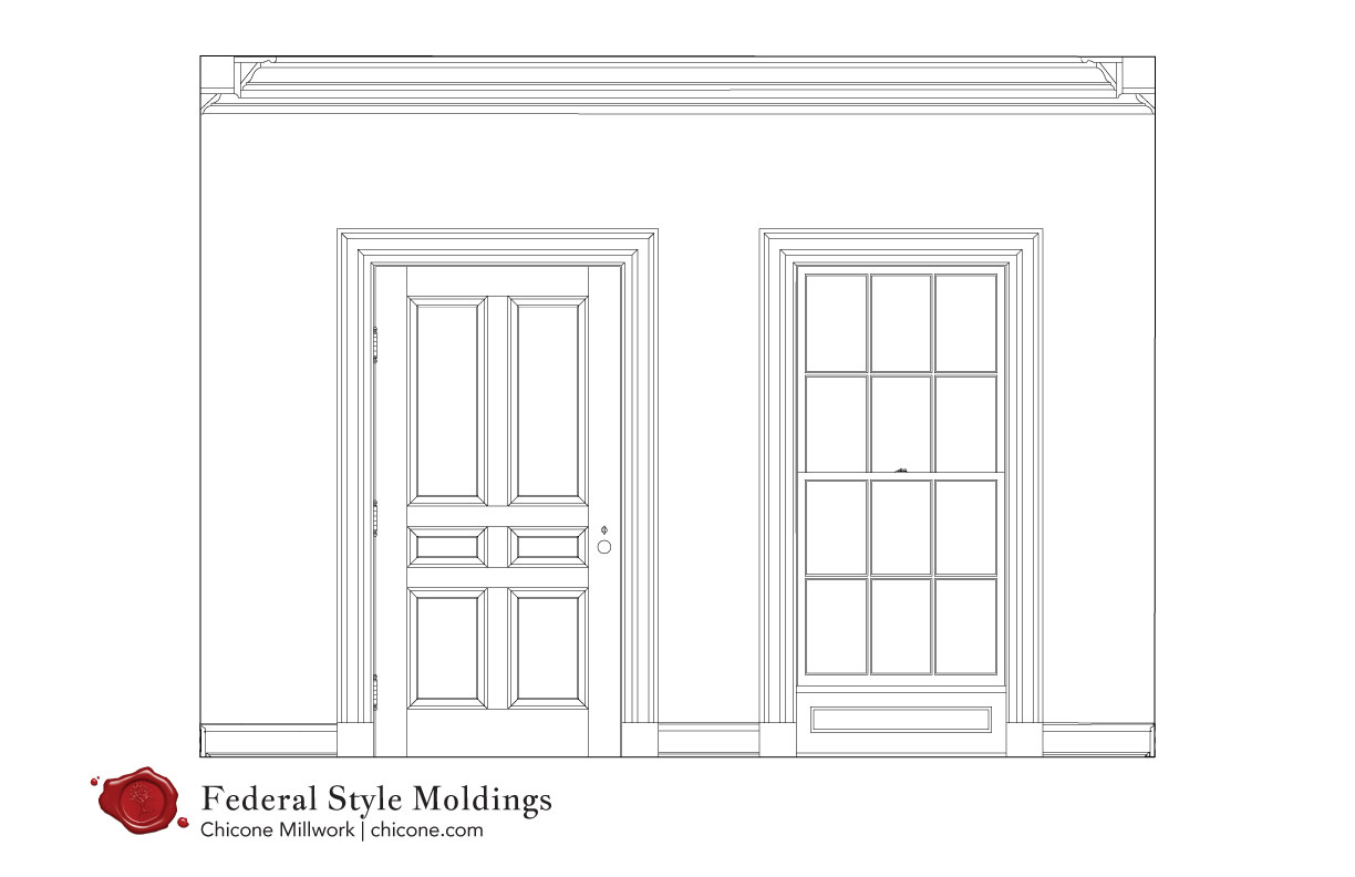 Federal molding elevation