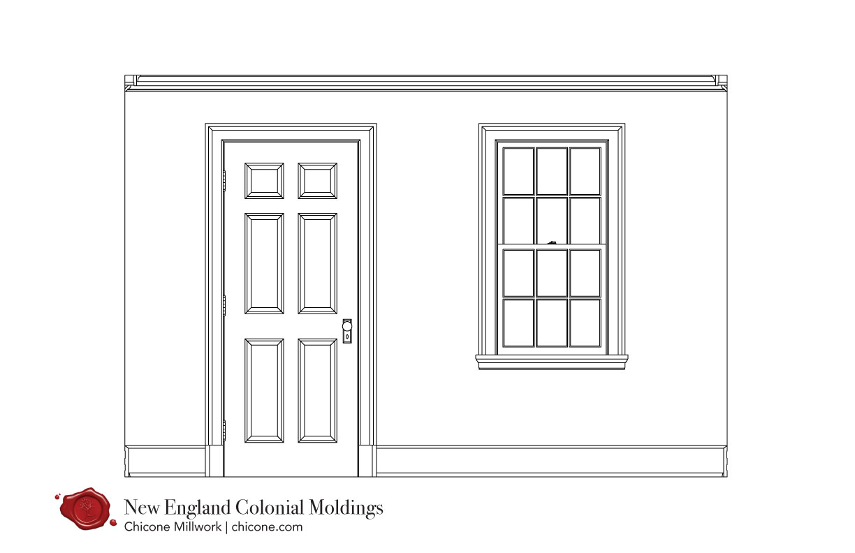 New England Colonial door and window molding