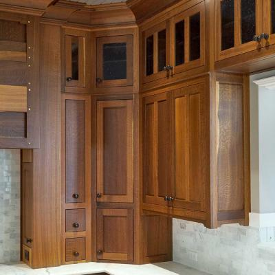 fumed oak kitchen cabinets in Greene and Greene style