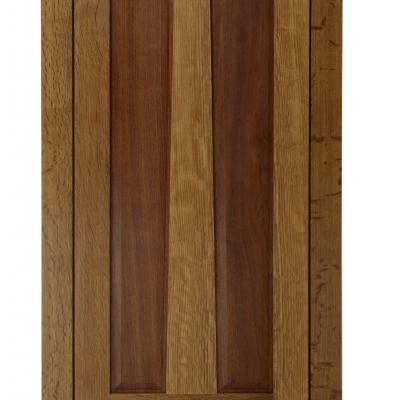 oak and walnut kitchen cabinet door