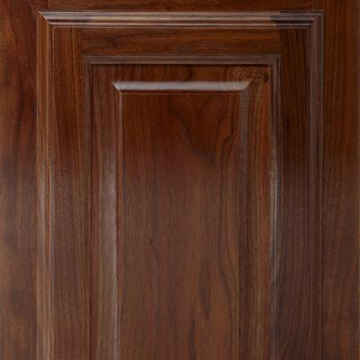 walnut kitchen cabinet door with gloss lacquer