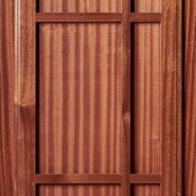 mahogany kitchen cabinet door in prairie syle