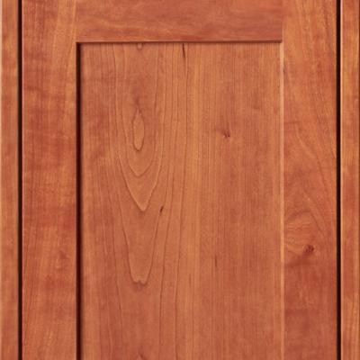 European kitchen cabinet door in cherry