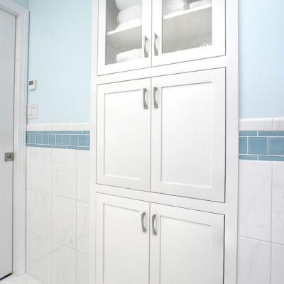 Custom painted bathroom built-in