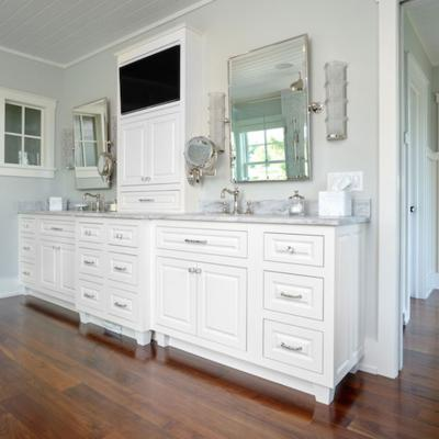 Painted double vanity (white)