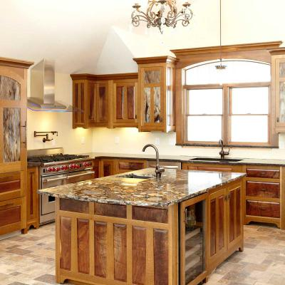 oak and walnut Arts & Crafts kitchen
